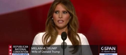 Melania Trump during her speech/Photo via screenshot