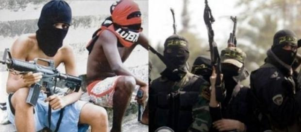 bandidos e terroristas - Foto/Montagem: Google