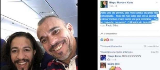 Pastor Marcos Klein ameaça de morte ao Deputado Jean Wyllys