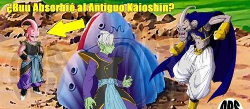 imagen referencial de majin buu despues de absorber al antiguo Kaioshin