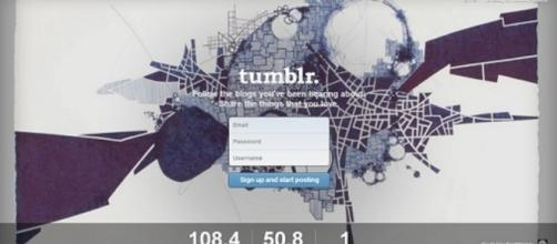Photo of Tumblr Homepage, via Wikipedia