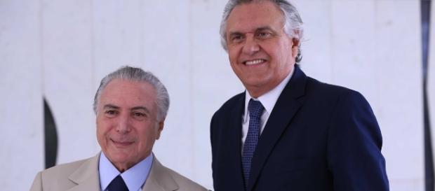 Michel Temer e Ronaldo Caiado (Foto: Marcos Corrêa/Jornal Grande Bahia)