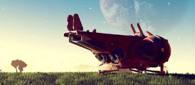 Una dintre navele prezente în jocul No Man's Sky