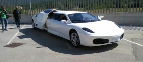 La falsa Ferrari 430 Limousine sequestrata ad Isernia