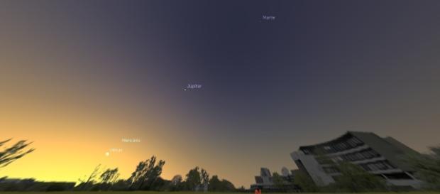 Foto simulação feita a partir do software Stellarium.