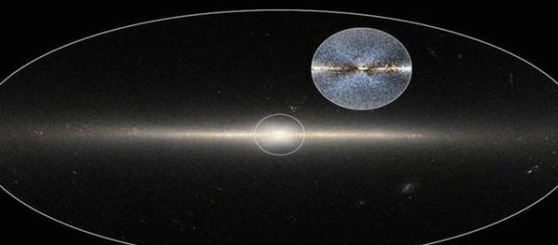 Estranha formação de estrelas registradas pelo WISE (NASA/JPL)