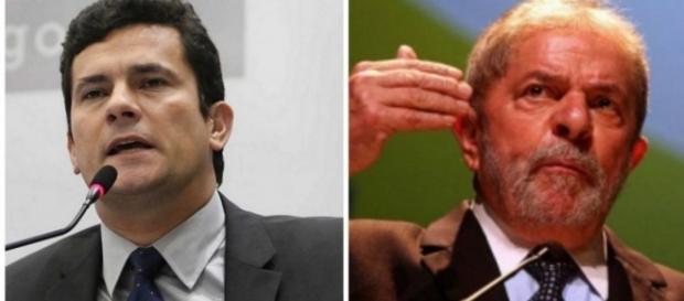 Sérgio Moro e Lula - Foto/Montagem