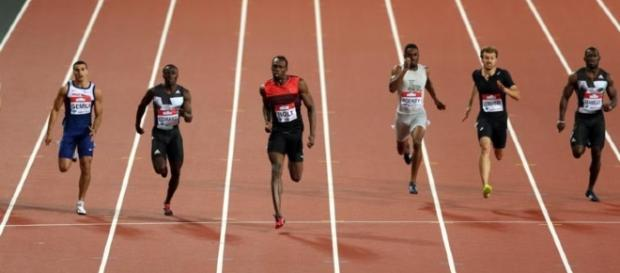 Usain Bolt se impuso en la prueba de 200 metros en la reunión de la Diamond League en Londres