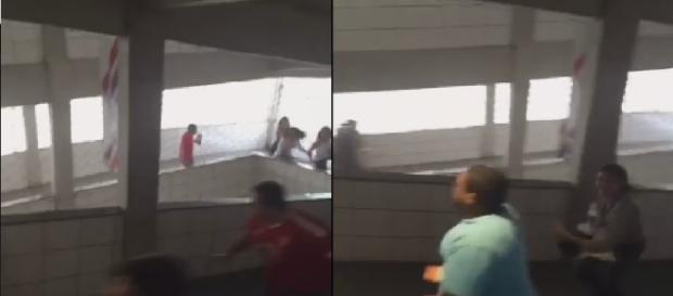 Alunos correm desesperados após anúncio de homem-bomba