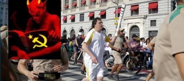 Casagrande carrega tocha olímpica