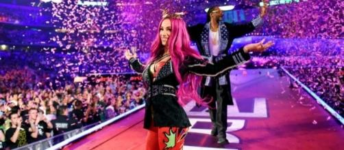 WWE's Sasha Banks with Snoop Dogg at WrestleMania 32 - c/o inquisitr.com