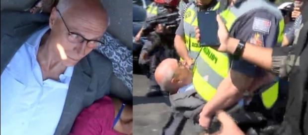 Eduardo Suplicy é carregado e preso