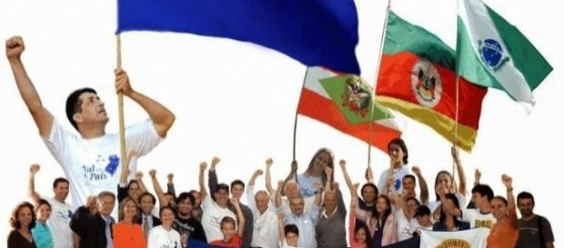 Movimento 'O Sul é meu país' ganha força no sul do país
