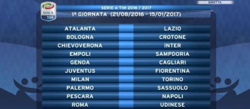 Calendario Serie A 1 Giornata.Serie A 2016 17 Calendario Partite 1 Giornata Orari