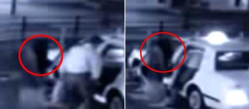 Does this clip prove ghosts are REAL? Chilling CCTV footage ... - YouTube screen shot by Mail Online.