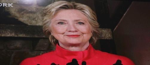 Hillary Clinton no pudo ir a la Convención e hizo una conexión en directo tras ganar las primarias