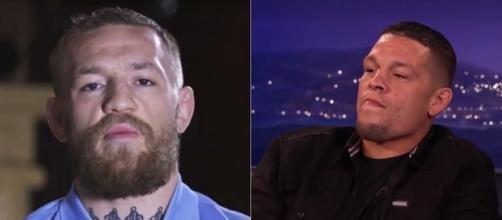 Nate Diaz was on Conan to talk about Conor McGregor [Image via Conan/TBS]
