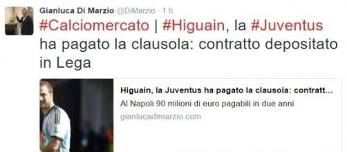 Ultime notizie calciomercato Juventus, martedì 26 luglio 2016: Higuain è ufficiale