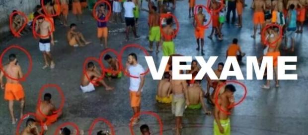 Foto de celulares com presos viraliza