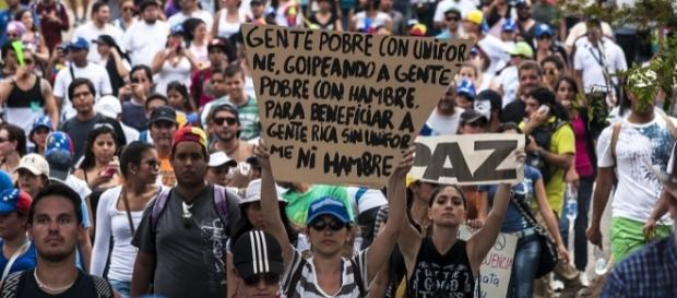 Protesters during the February protest in 2015. Picture taken by Leslie Sánchez