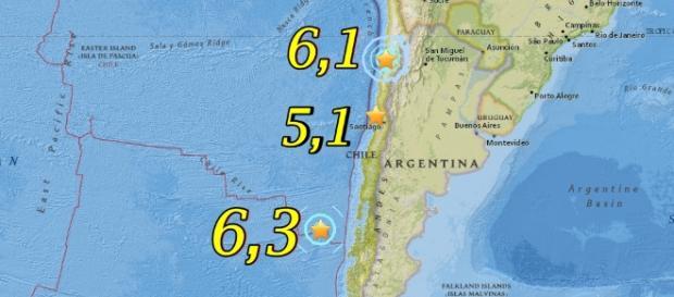 Sismos de estos últimos 3 días hicieron temblar el norte, centro y sur de Chile