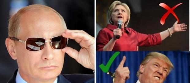 Vladimir Putin se pare că a ales. Îl preferă pe Donald Trump la președinția Americii
