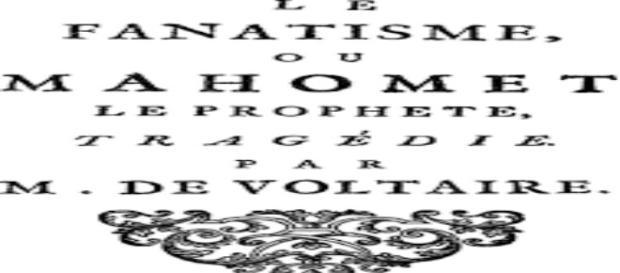 """Voltaire, libro su Maometto V - poem """"Pixels Europe"""""""