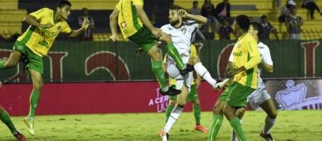 No jogo de ida, em Volta Redonda, houve empate em 1x1