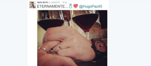 Sofía y Hugo, comprometidos 'eternamente'.
