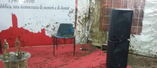 Letame contro il Presidente della Regione Rossi: caos alla Festa dell'Unità di San Miniato