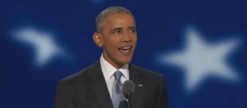 President Obama at the 2016 DNC, via YouTube