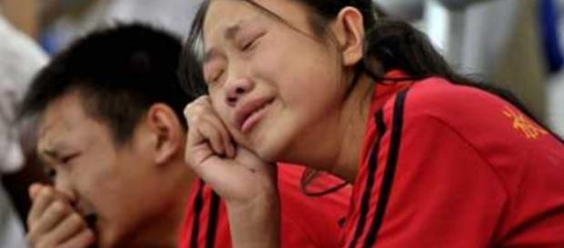 Choro de chineses durante Olimpíada