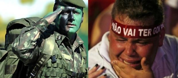 Exército e petista - Foto/Montagem