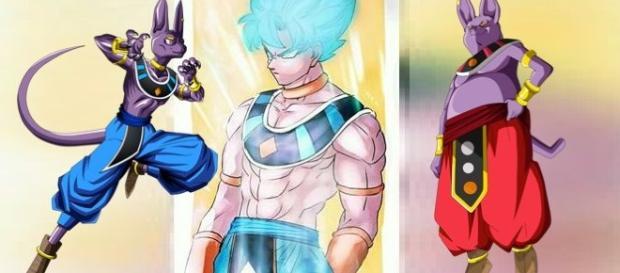 Fan art con Goku como Dios de la destruccion