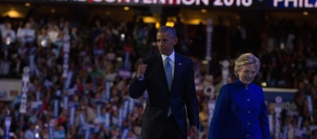 Hillary Clinton joined President Barack Obama at the DNC last night