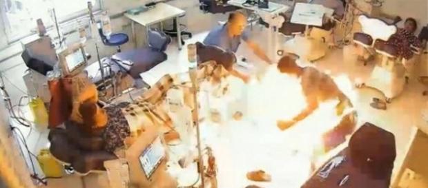 Homem incendeia ala hospitalar para matar seu rival.