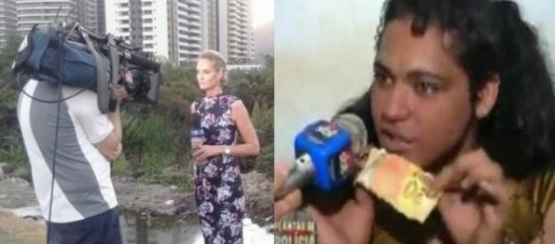 Jornalistas foram atacados por travestis (Reprodução/Internet)