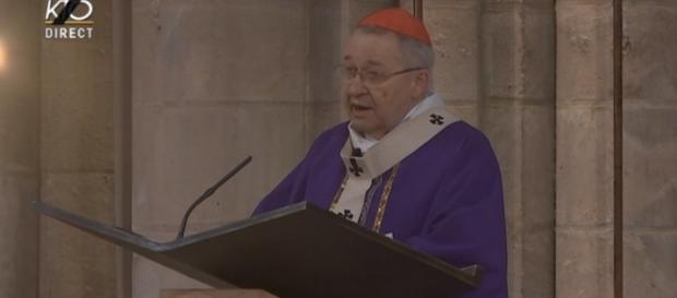 Le cardinal André Vingt-Trois lors de la messe d'hommage au père Jacques Hamel.