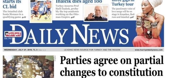 Le très respecté Hurriyet Daily News va-t-il encore une fois soumis à des pressions ?