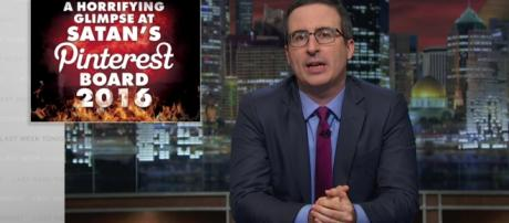 John Oliver has many appropriate names for this election season/ Photo via Screen capture from https://www.youtube.com/watch?v=BUCnjlTfXDw