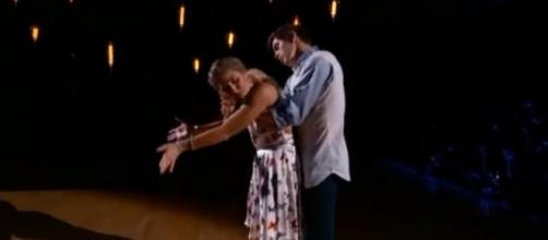 Hayes Grier and Emma Slater perform a contemporary routine on 'Dancing with the Stars.' DWTS/YouTube