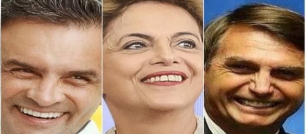Aécio, Dilma e Bolsonaro estão na lista de políticos mais populares do Facebook