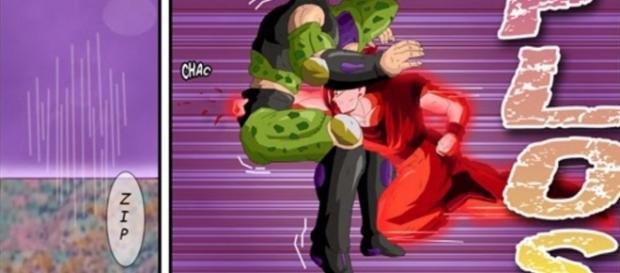 cell resucitado pelea con goku en fase kaioken