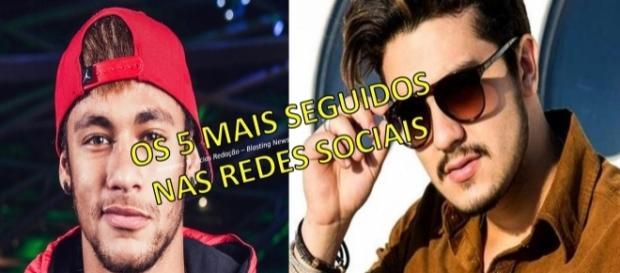 Neymar e Luan Santana fazem parte da lista dos mais seguidos da internet