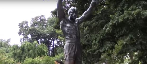 Screen capture of statue of Rocky in Philadelphia, Pennsylvania. Richard Frejomil II/YouTube.