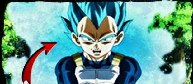 Vegeta le enseña su transformación mas poderosa a Trunks.