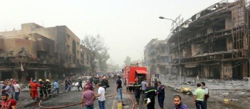 Una de las zonas más dañadas por las explosiones