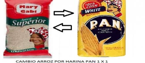 Venezuela donde se cambia un arroz por una harina pan!!!
