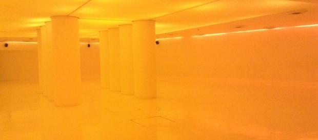 Columnas que sostienen la Estela de Luz en el piso -2 del CCD