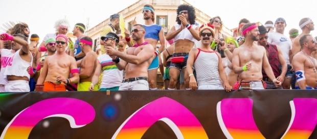 Una de las carrozas del Orgullo Gay de Madrid en 2014